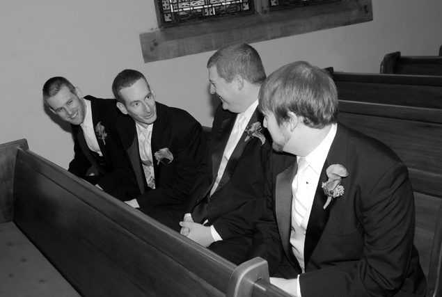 Four men and a pew